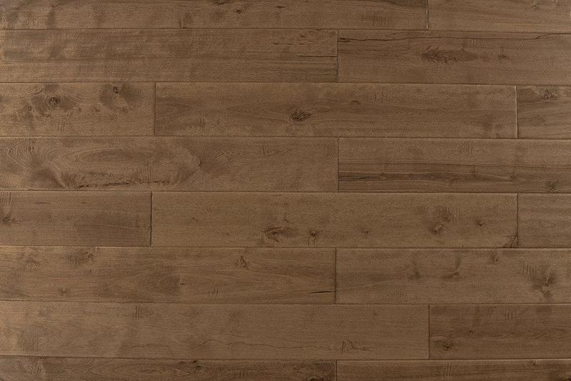 Maple Natural Toast 4.75xfree length, Hand-Scraped, Brown, Solid-Hardwood, Wood