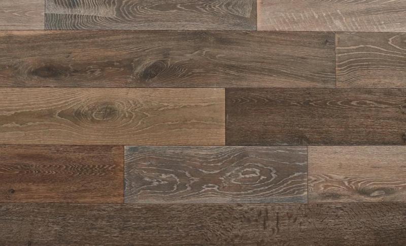 Seneca Valley Collection Sherwood 90 in, Wire-Brushed, Brown, European-Oak, Engineered-Wood, Trim