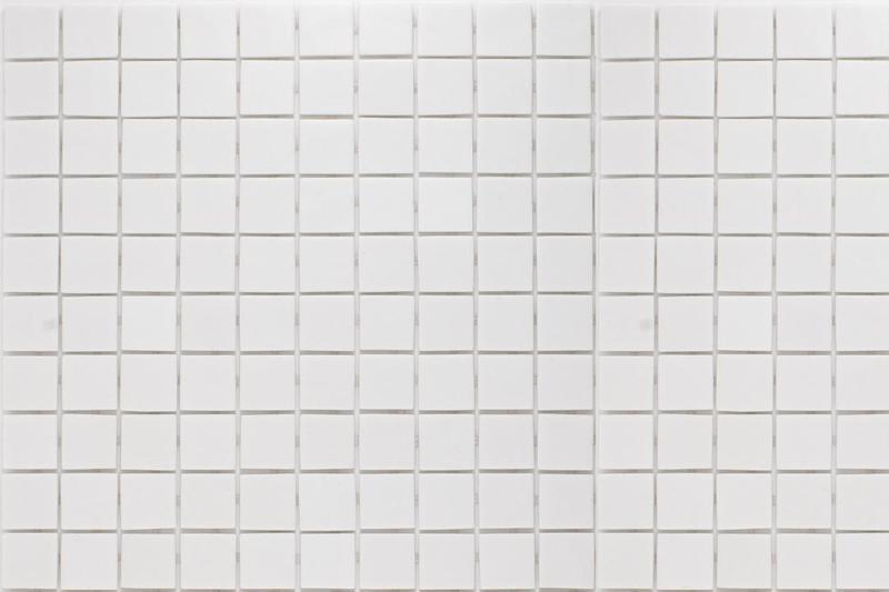 Onix Natureglass Malla White 1x1 Square  Glass  Mosaic