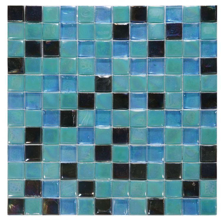 Laguna Mermaid 1x1 Square  Glass  Mosaic
