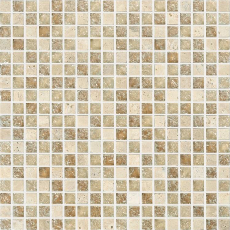Icy Beige 6/19x6/19 Mini, Square  Glass  Mosaic
