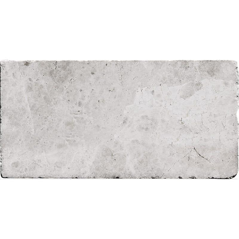Silver Shadow Tum Marble Tile 3x6 Tumbled   0.38 in  (Discontinued)