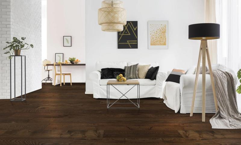 Seneca Valley Collection Magruder 7.5xfree length, Wire-Brushed, Dark Brown, European-Oak, Engineered-Wood