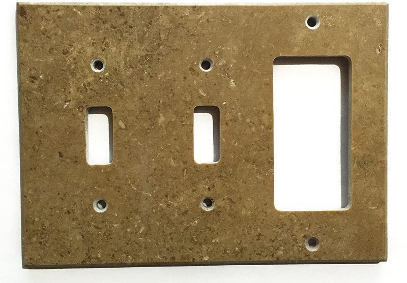Noce Double Toggle Rocker Travertine Tile 4.5x6.5 Honed