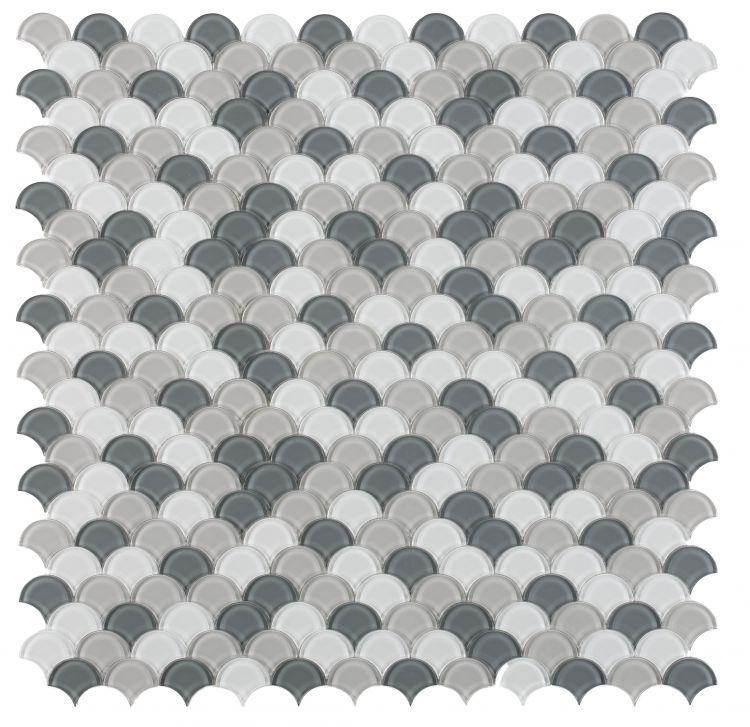 Dragon Scale Glass Earl Grey Glossy   Mosaic