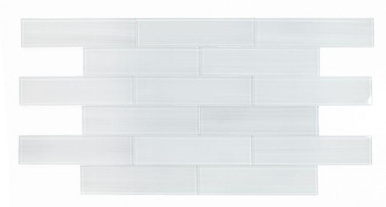 Large Glass Tile Lucy Light Subway Glossy   Mosaic