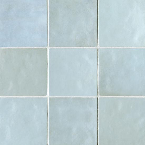 Cloé Baby Blue Glossy 5x5 Ceramic  Tile