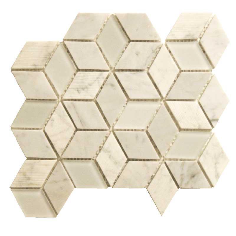 Bennelong Point Cube Carrara Honed, Mixed, Mosaic