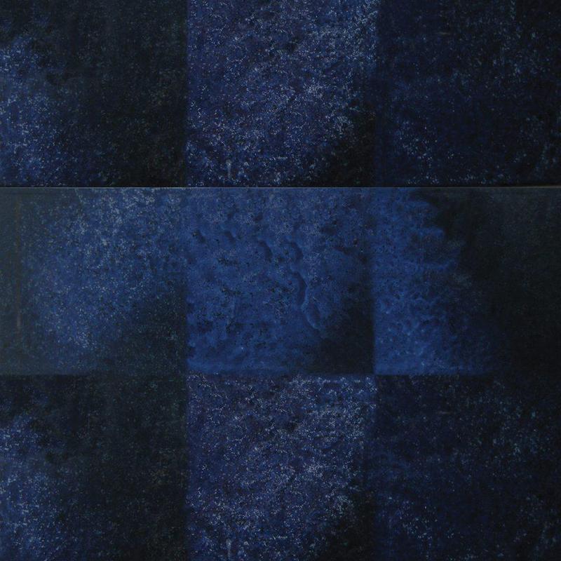 Seabreeze Waterline Navy 6x6, Glazed, Blue, White, Black, Square, Porcelain, Tile