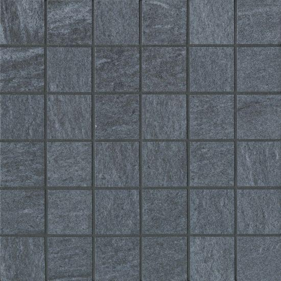 Urban 2.0 Floor Wall Mosaic In Raven Black 2x2  Honed Color Body Porcelain