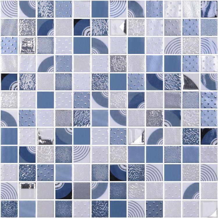 Onix From Spain Chroma Athos Malla Square Polished Glass  Mosaic