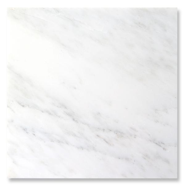 Oriental White Marble Tile 4x4 Honed