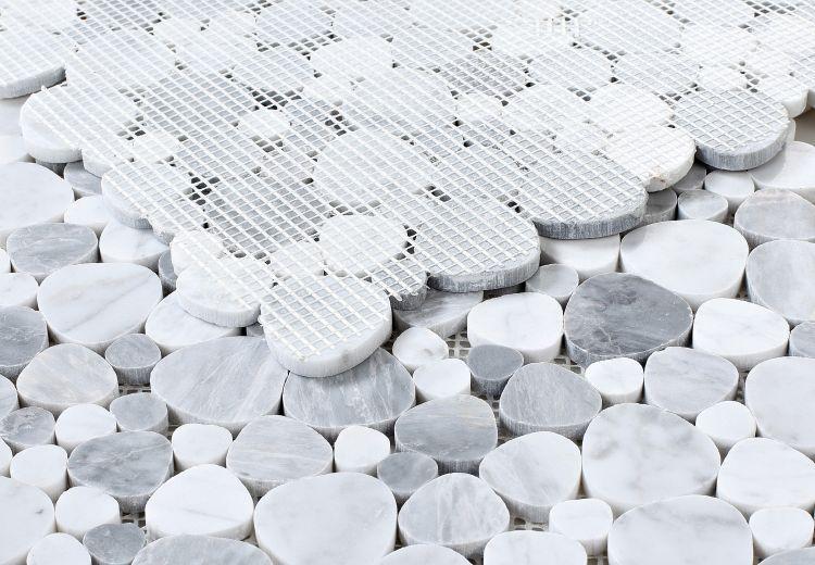 Aphrodite Dusk Pebble Polished Marble  Mosaic