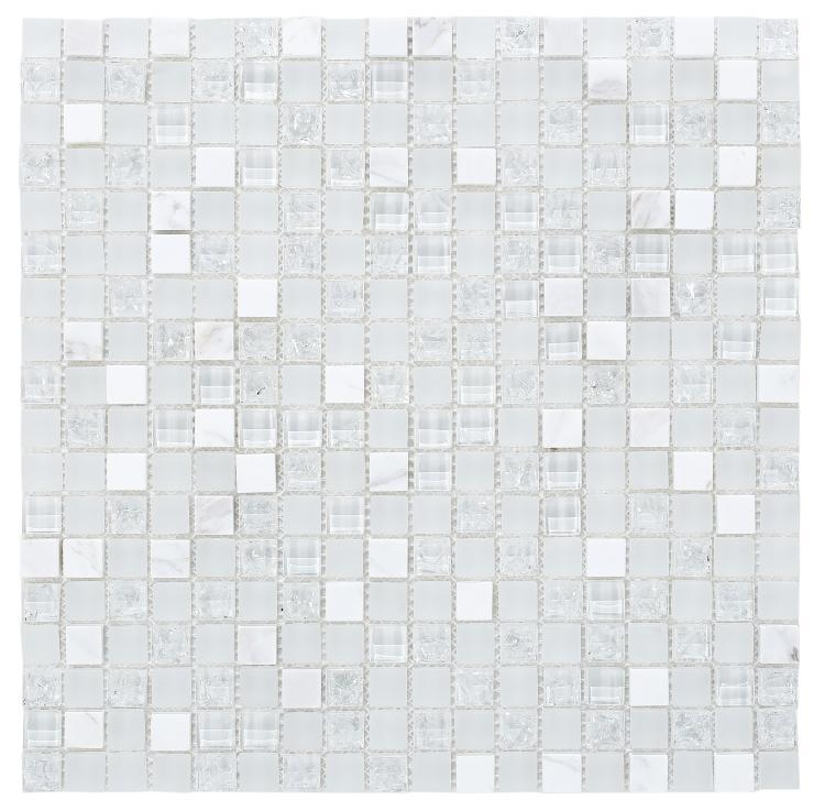 Icy Cube 3/8x3/8 Square  Glass  Mosaic