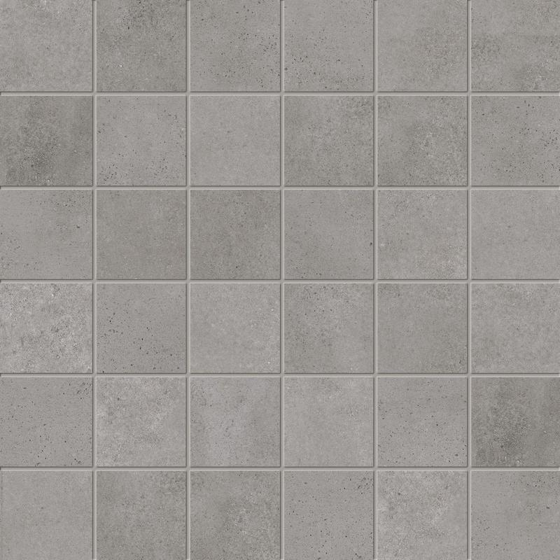 Supergres Art Stone Graphite 2x2 Square Natural Porcelain  Mosaic