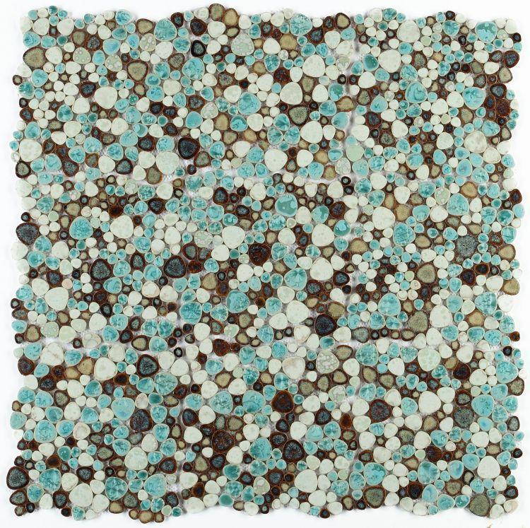 Growing Grass Pebble  Porcelain  Mosaic