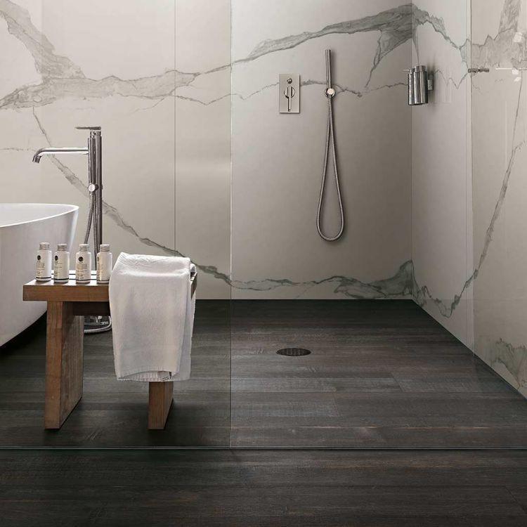 Deco Wood Black Matte 10.5x71 Porcelain  Tile