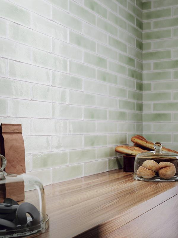 Vitral Verdone Crackle 3x12 Ceramic  Tile