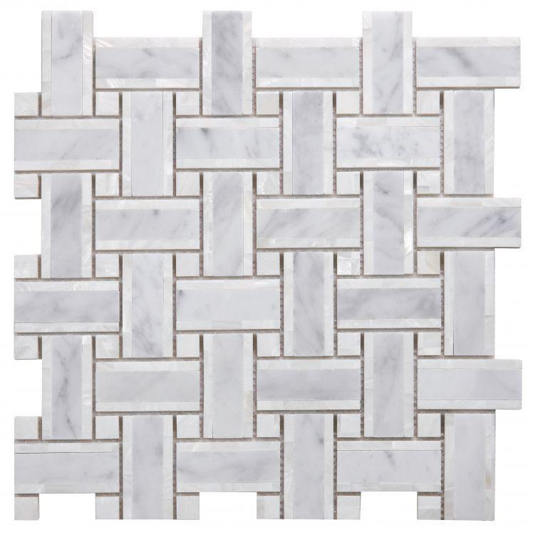 Diana Cross Carrara Windmill  Pearl  Mosaic