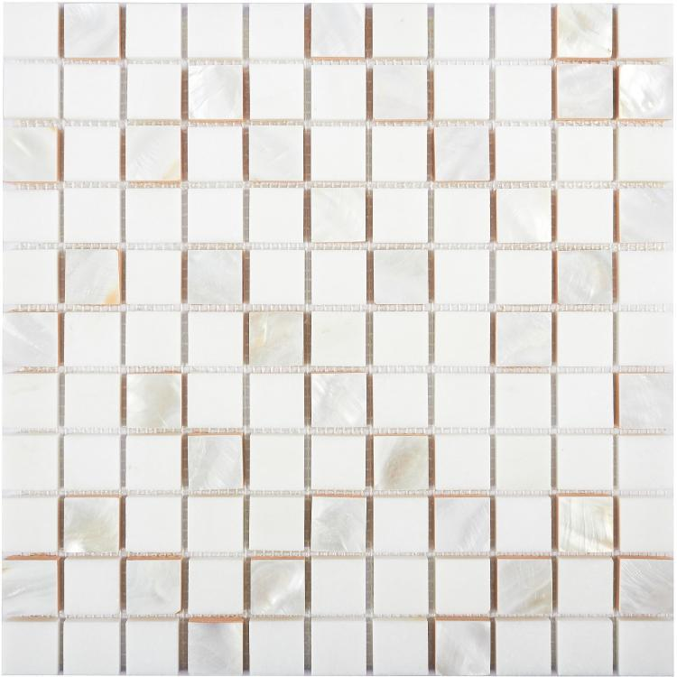 Diana Thassos 1x1 Square  Pearl  Mosaic