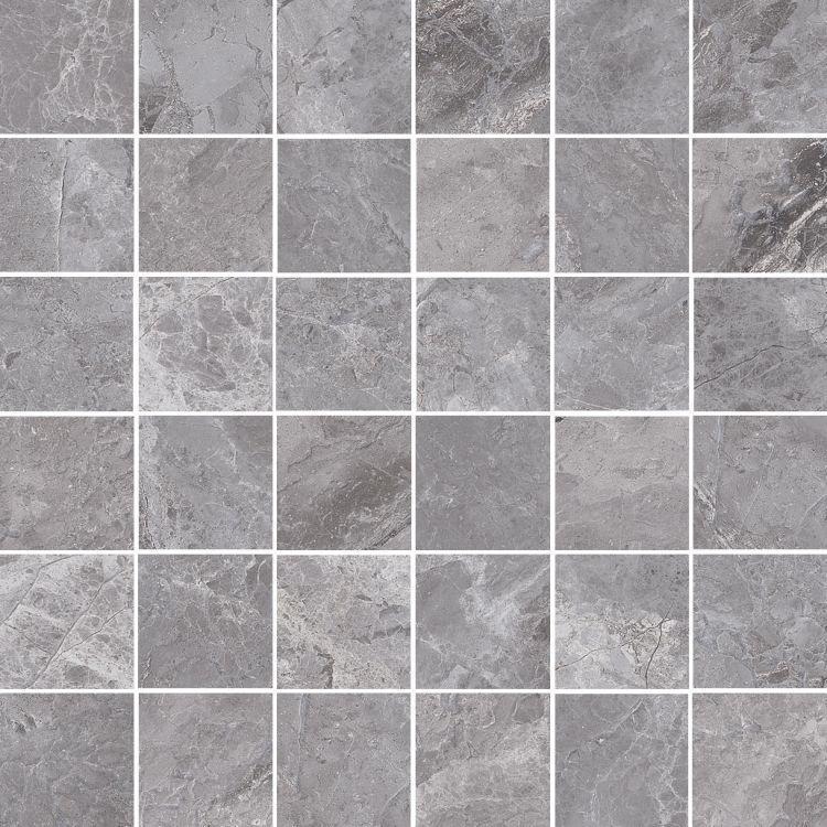Supreme Grey Naturale 2x2 Square Matte Porcelain  Mosaic