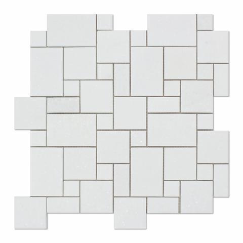 Marble Thassos White Mini Honed   Mosaic
