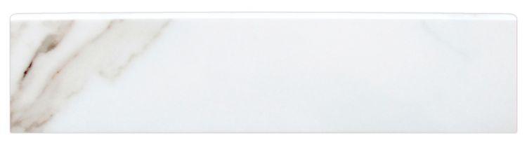 Trilogy Calacatta White Glazed, Matte, Soft 3x12 Porcelain Bullnose