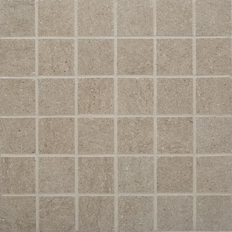 Pave Grigio 2x2, Smooth, Square, Color-Body-Porcelain, Mosaic