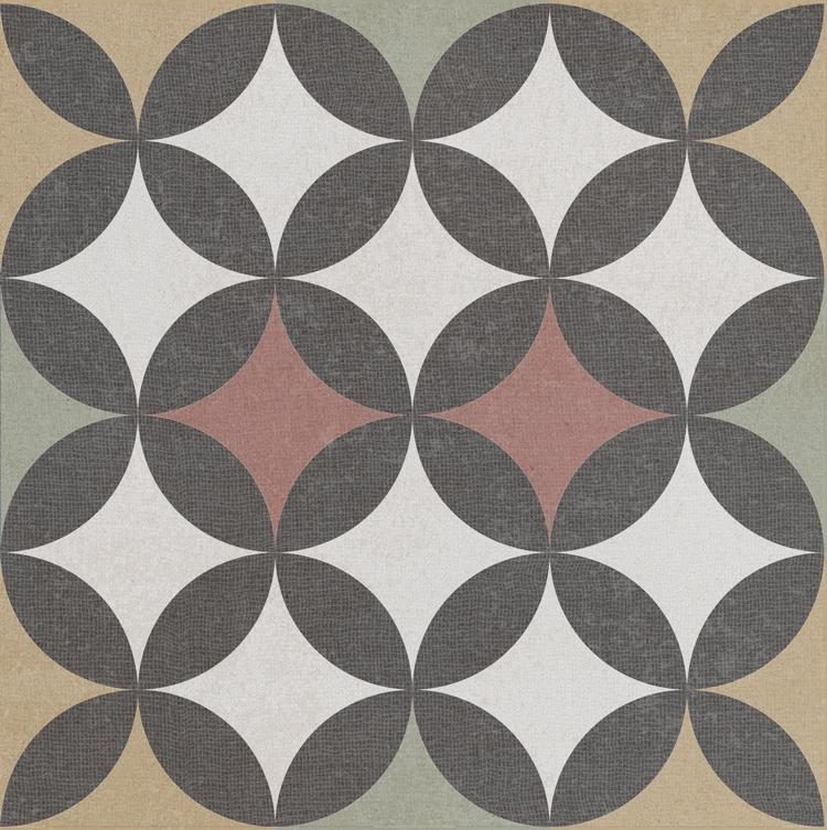 Bouquet Criollo Cuadrado Single 9.5x9.5, Glazed, Square, Porcelain, Tile