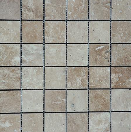 Travertine Ivoria 2x2 Square Polished   Mosaic