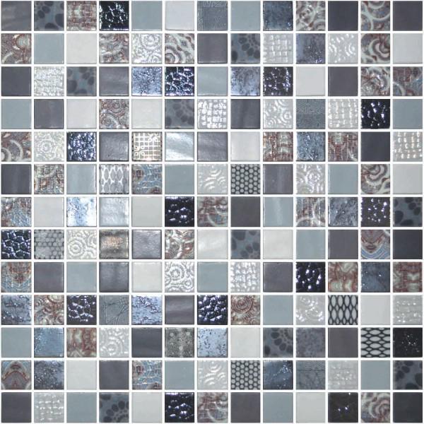Onix Cosmic Blends Arezzo 1x1  Glossy Glass  Mosaic