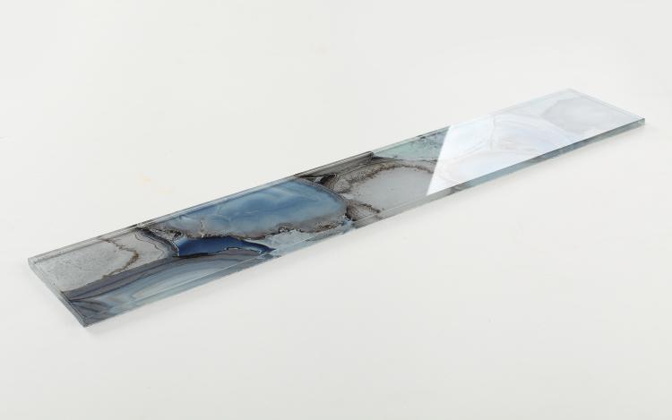 Shell Aura Blue Subway Glossy Glass  Mosaic