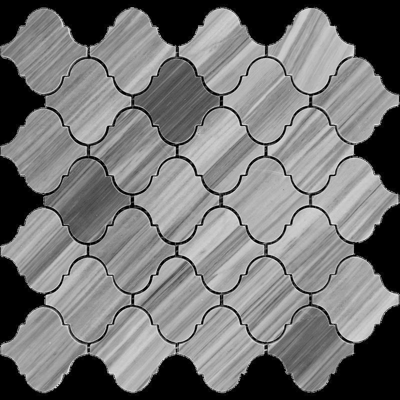 Marble Bardiglio 3 in Lanterna Polished   Mosaic