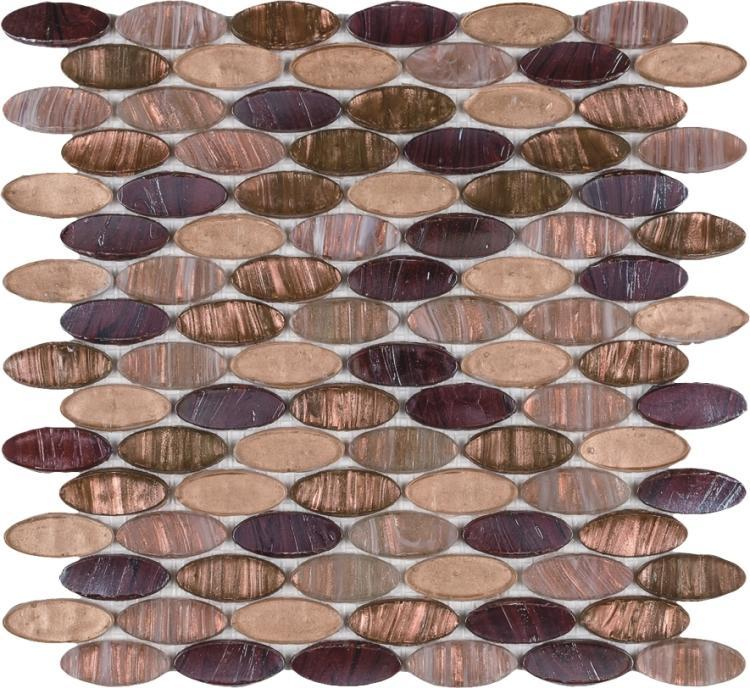 Hot Inari Red Circular  Glass  Mosaic