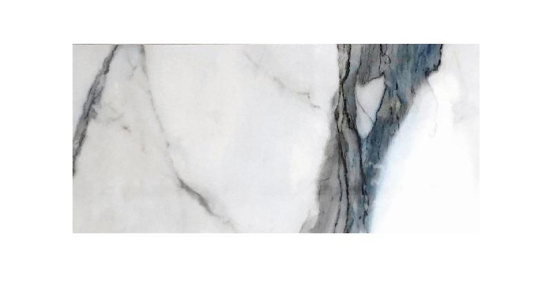 Calacatta Ocean Glazed, Polished 24x48 Porcelain  Tile
