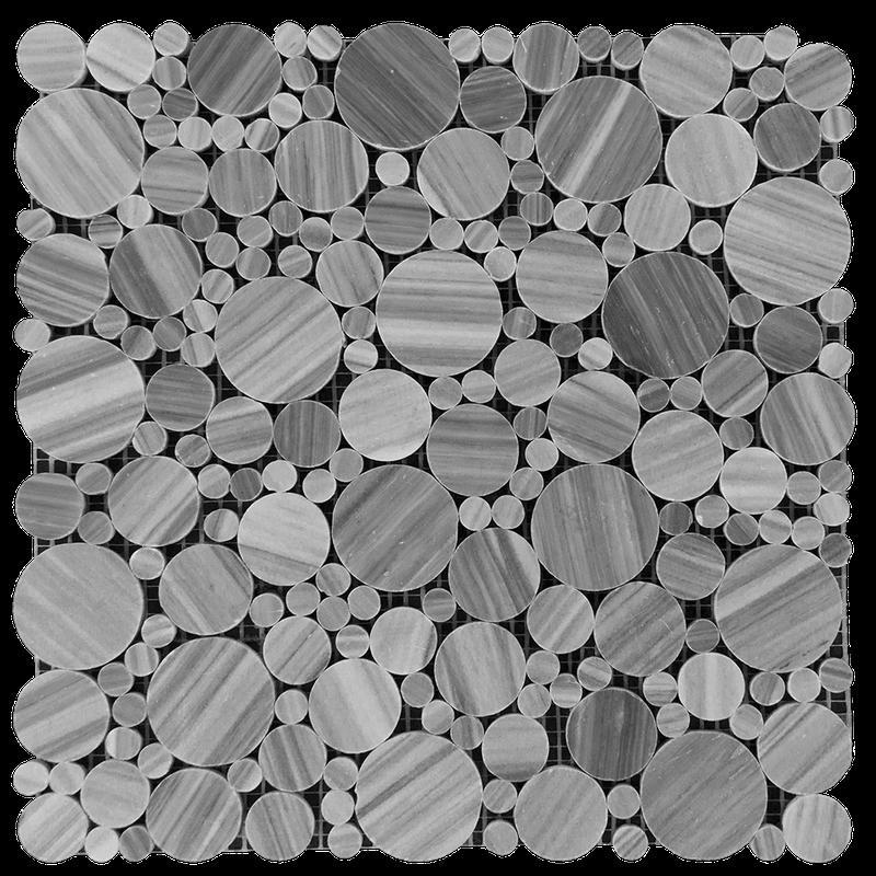Marble Bardiglio Bubble Polished   Mosaic