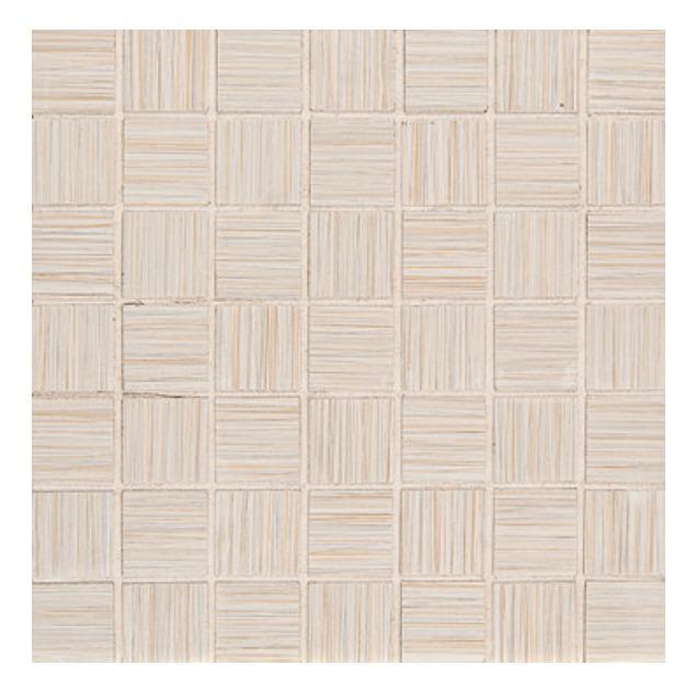 Runway Alabaster 1.5x1.5 Square Glazed Porcelain  Mosaic (Discontinued)