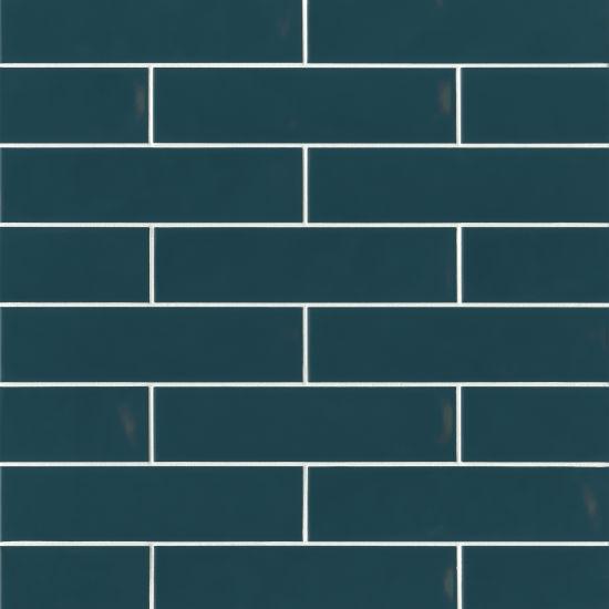Sorrento Azzurro Glossy 2.5x11 Ceramic  Tile