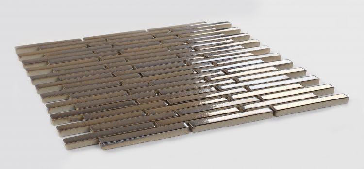 Hulu Metal Slender Linear  Porcelain  Mosaic