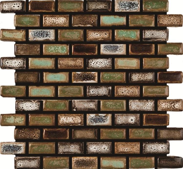 Roman Apollo Square, Stack Glossy Porcelain  Mosaic