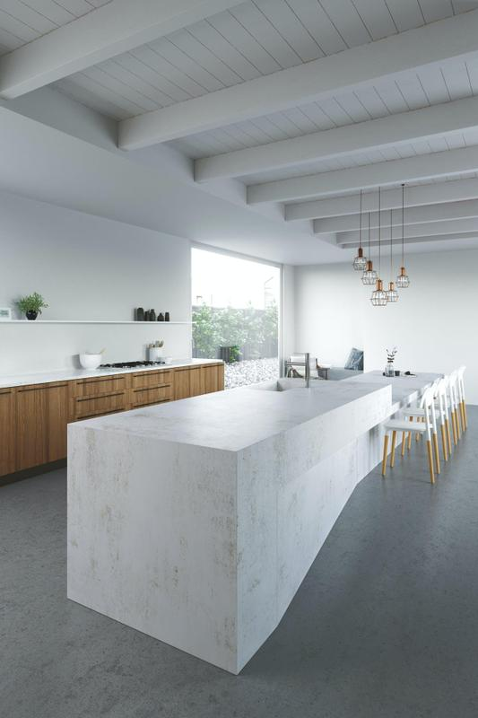 Group 2 Industrial Collection Nilium Standard Size 57x126, 20 mm, Smooth Matte, White, Porcelain, Slab