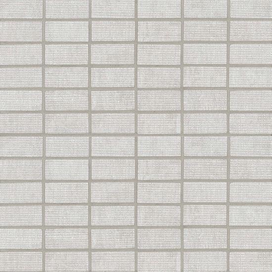 Plaza Snow 1x2 Brick Glazed Porcelain  Mosaic