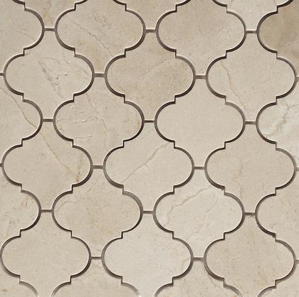 Marble Crema Marfil 4 in Lanterna Polished   Mosaic