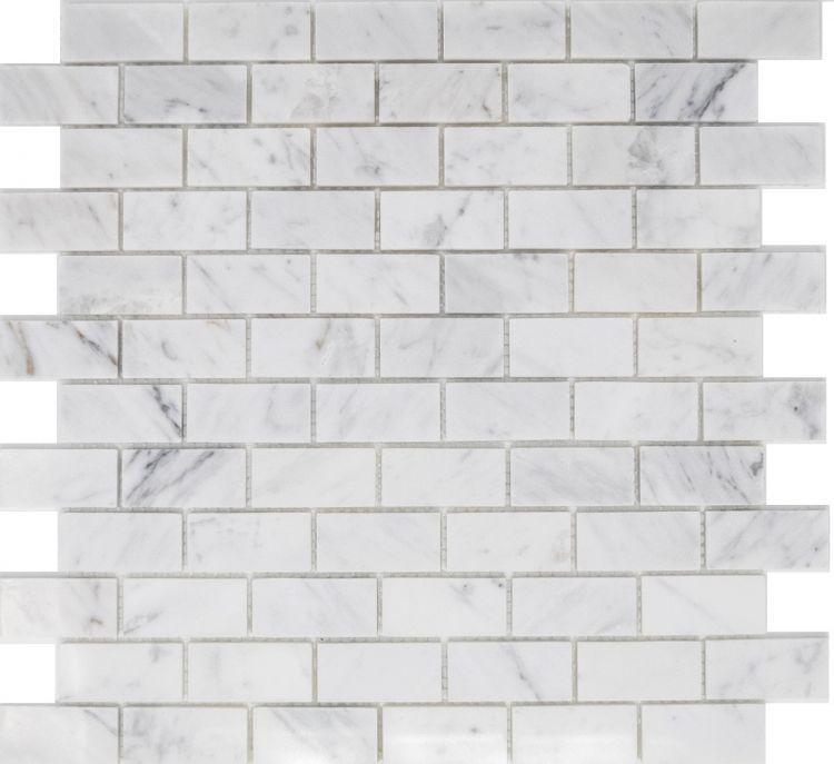 Precious Stone Carrara 1x2 Brick  Marble  Mosaic