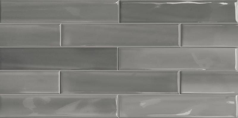 Sant Agostino Shadebrick Grey Glazed 3x12 Porcelain  Tile