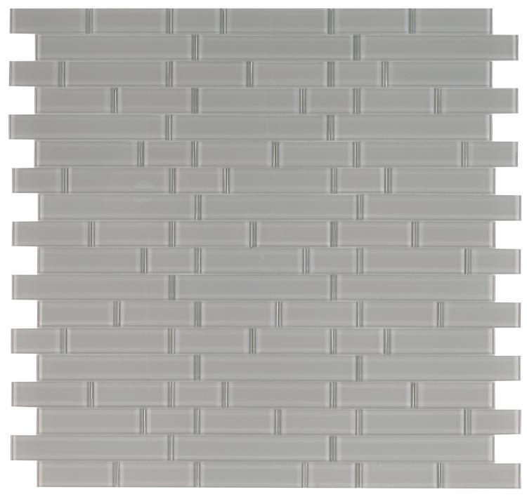 Casale Grey Shining Subway Glossy Glass  Mosaic