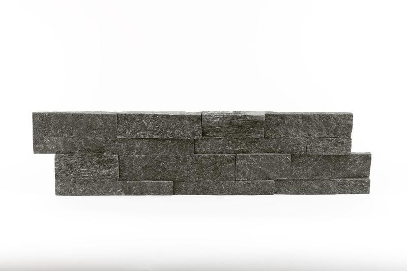 Black Quartzite Ledger Panel 6x24 Natural   3/4 - 1-1/8 in