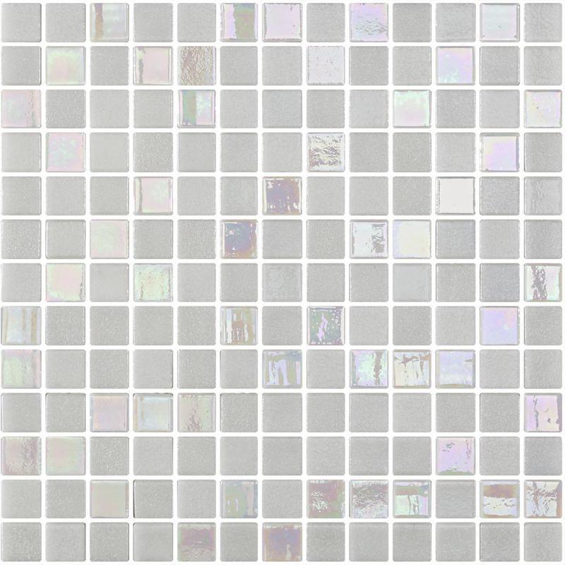 Runway Paris White 1x1 Square Matte Glass Mesh Mounted Mosaic