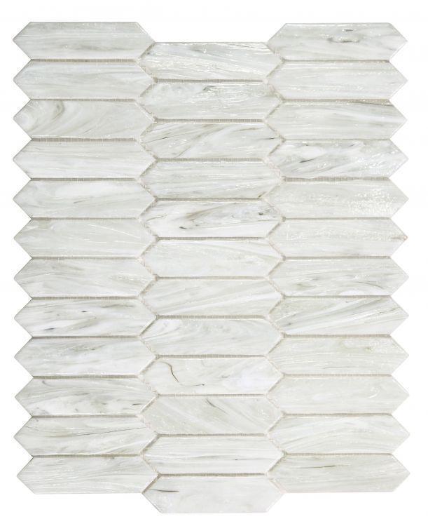 Hot Arrow Dawn Elongated Hexagon  Glass  Mosaic