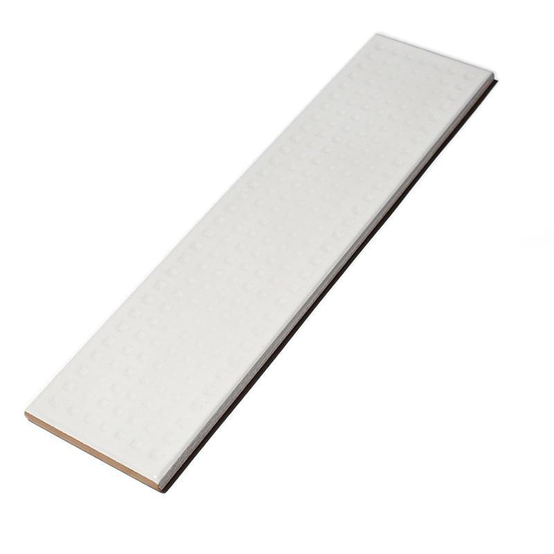 Imola Slash White Dimple Natural 3x12 Ceramic  Tile